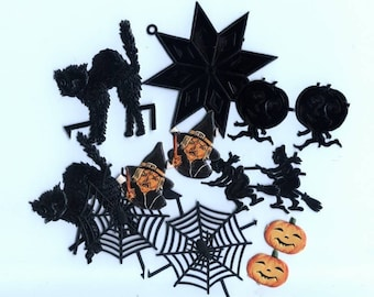 Grab Bag of Halloween Scraps and Dresdens - Vintage and New