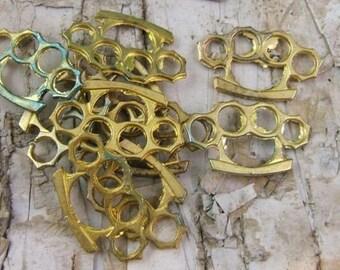 Vintage Brass Knuckles Charm