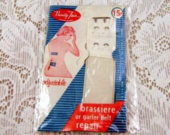 Vintage Vanity Fair Brassiere or Garter Belt Repair Strap - Adjustable