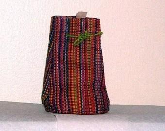 3 Multicolor Raffia Bags from Madagascar