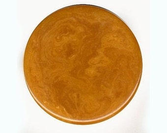 Vintage Butterscotch Bakelite Disk or Chip