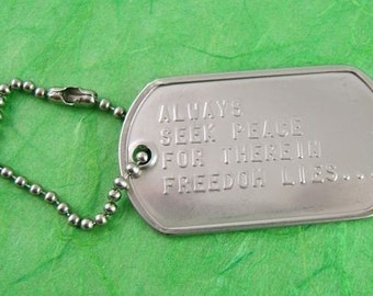 Peace Chain Key Chain - SilverCrow Exclusive