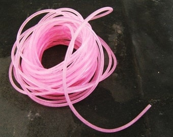 Perfect for Plastic Charm Necklace - Pink Glow in the Dark String - Over 20 Feet - GID