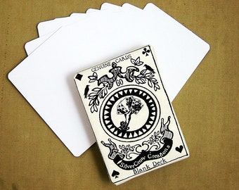 Sampler Pack of 10 Blank Playing Cards or Artist Trading Cards (W-9)