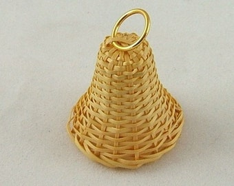 Vintage Wicker Bell Embellishment - Package of 2