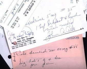 Package of 10 Real Vintage Prescriptions