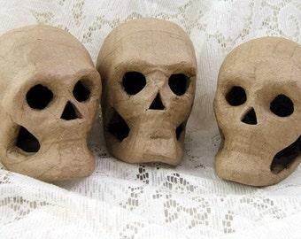 One (1) Small Papier Mache Skull