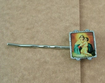 Madonna and Child Bobby Pin - Just Right For Baptisms and Christenings
