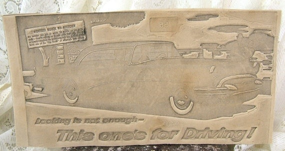 Vintage Newspaper Paste-up Hottest Buick in History - Looking is not enough - This one's for driving (EM)