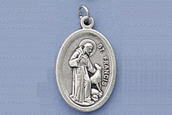 francis of assisi and the wolf medal or charm package