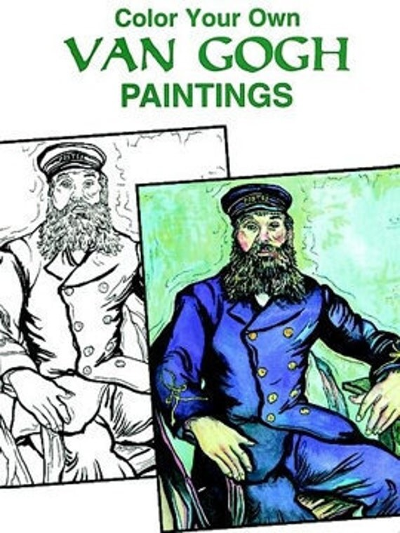 Color Your Own Van Gogh Paintings Coloring Book With Free