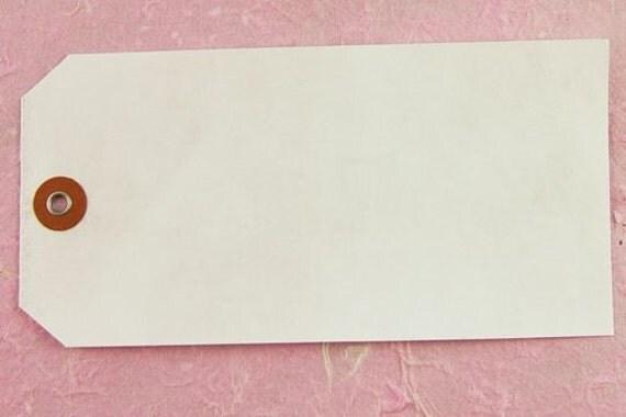 Package of 10 Vintage White Tyvek Tags