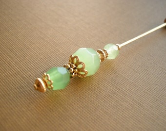 Beautiful Green frost Hatpin Hijab Pin