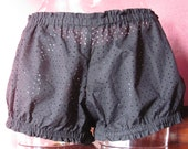 Black eyelet cotton mini bloomers