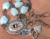 Western Cowgirl Necklace Mixed Media Jewelry Tamara Ruiz