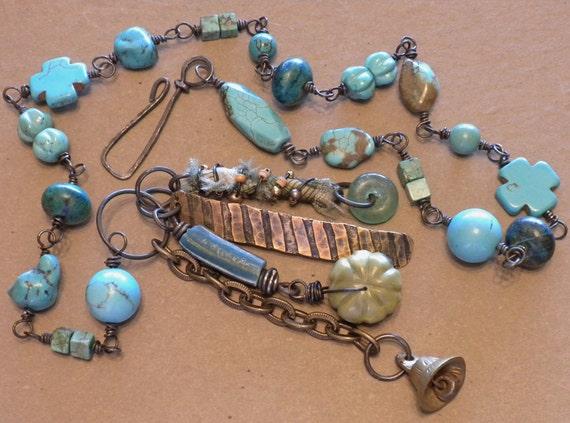 Southwestern Talisman Assemblage Necklace by Tamara Ruiz