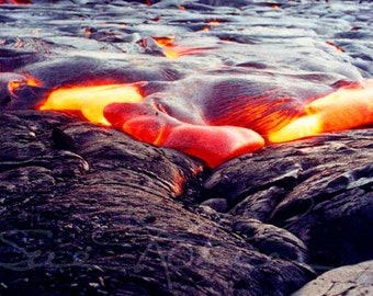 Kilauea Volcano Photography - Fine Art Photo - Big Island Hawaii Heart Lava Flow Nature Photography Pele Landscape Photograph - Gift for Him