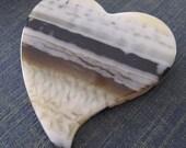 Vintage Lucite Heart Bead Pendant
