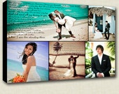 Personalized Wedding Photos and Words on canvas lyrics vows  18X24 Ready To Hang