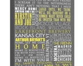 "Reserved for Amber Typography ""ELITE"" Series Word Art Canvas art personalized Words and phrases wall art 20X30"