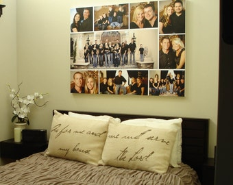 Storyboard Family Photo Custom Collage with quotes, words  Personalized Canvas with Text Large Wall Art 36x48  inches