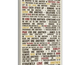Scripture Bible passage verse Word Wall Art  custom Canvas, Vows Art Gift, CUSTOM wedding or anniversary, canvas 10x20 inches
