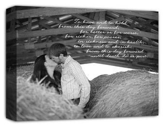 Your photo on canvas word art on Photograph Personalized Custom Art Canvas Wedding 12X16