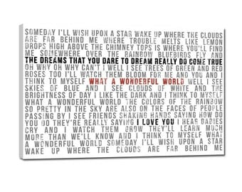 Large Canvas Art Personalized Faded greys lyrics distressed  words on canvas 24x36 gallery wrapped