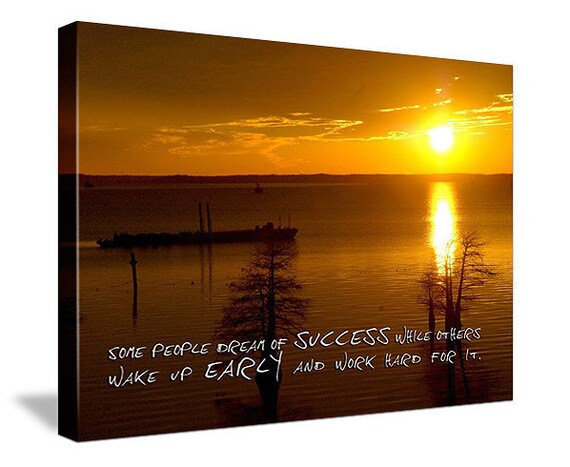 Inspirational photo or sunset Word Art over YOUR photo quotes typography picture canvas 12x16 inches