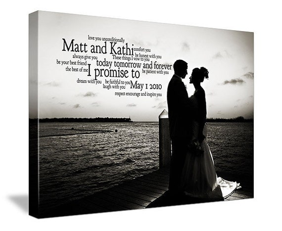 Personalized Text Poems Words on Photograph Keepsake Favorite Photo and Words, Vows,12x16
