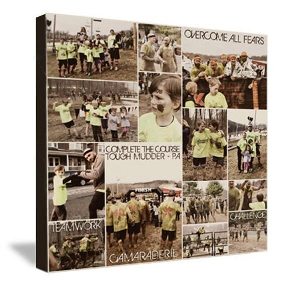 Tough Mudder, Iron Man Marathon Gift Runner Art Encouragement, Survivor, Wall Word Art Your Words, UNIQUE GIFT 14x14