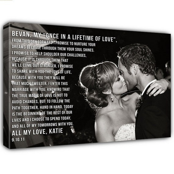 Personalized Wedding Canvas: Personalized Gift Your Photo On Canvas Word Art On Photograph