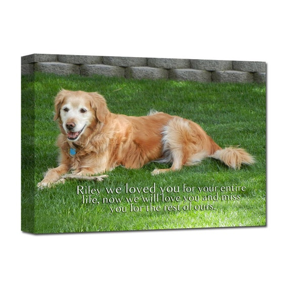 Gift Dog PET Lover Loss of Pet  Portrait Art words photo Personalized custom canvas 12X16