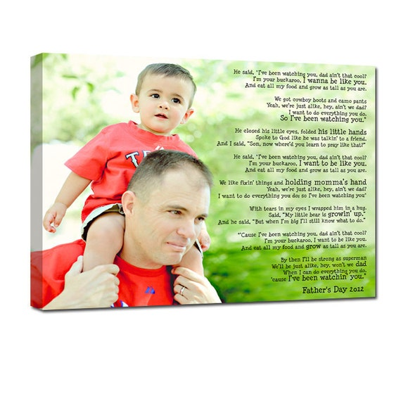 Custom Family Personalized Photo Gift on Canvas Words Text Quote Sayings 12x16