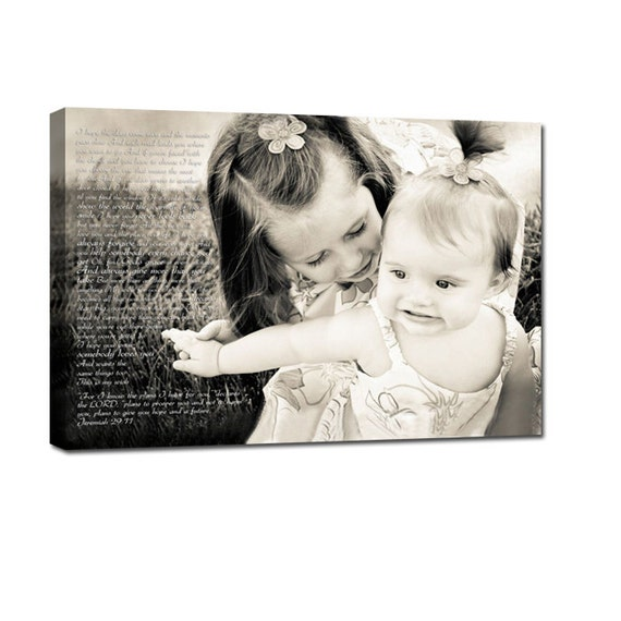 Things to do kids photos, Family Gift, Words pictures on Canvas Art Custom Typography Gift for Mom 16x20 inches