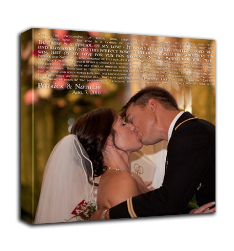 Wedding Vows Gifts Ideas: Personalized Wedding Vows Art Anniversary Gift Wall Art