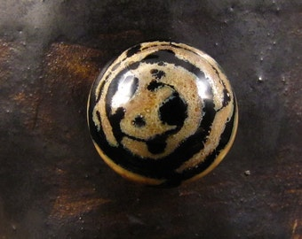 Handmade Glass Cabochon - Tyger Tyger Burning Bright
