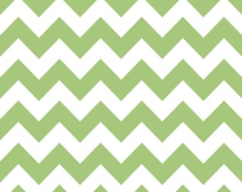 Riley Blake Designs, Medium Chevron in Green (C320 30)
