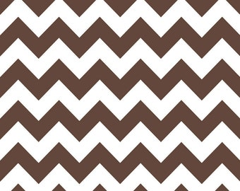 Riley Blake Designs, Medium Chevron in Brown (C320 80)