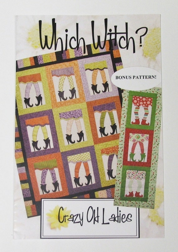Which Witch Quilt Pattern, Bonus Christmas elves pattern (COL 435)