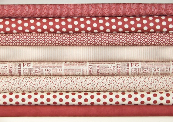 Hometown by Sweetwater,  fat quarter bundle in Stop Sign - 8 total