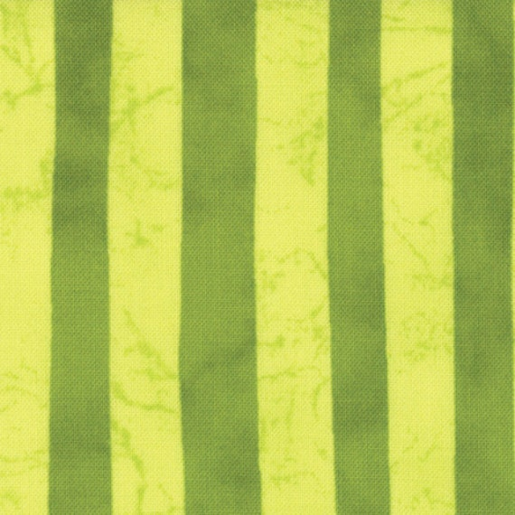 A Stitch in Color, by Malka Dubrawsky Stripes in Pear Acid Green - 1 yard