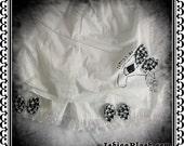 White Bandaged bunny bloomer shorts S - M