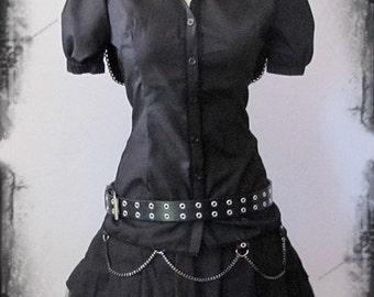 Animimi hooded lolita blouse black