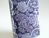 Paperback Book Cover - Purple Paisley - Large Trade Size