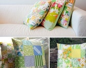 How To Make a Vintage Sheet Cushion - Pattern