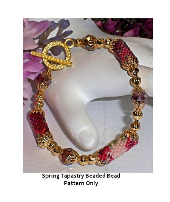 Spring Tapastry Beaded Bead PATTERN ONLY
