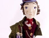 SALE Mr Dreamseller - Orignal handmade art doll