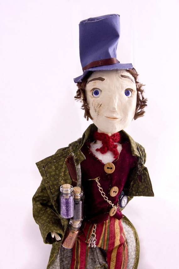 SALE Mr Dreamseller - Orignal handmade art doll
