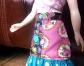 Multicoloured Skirt for Blythe